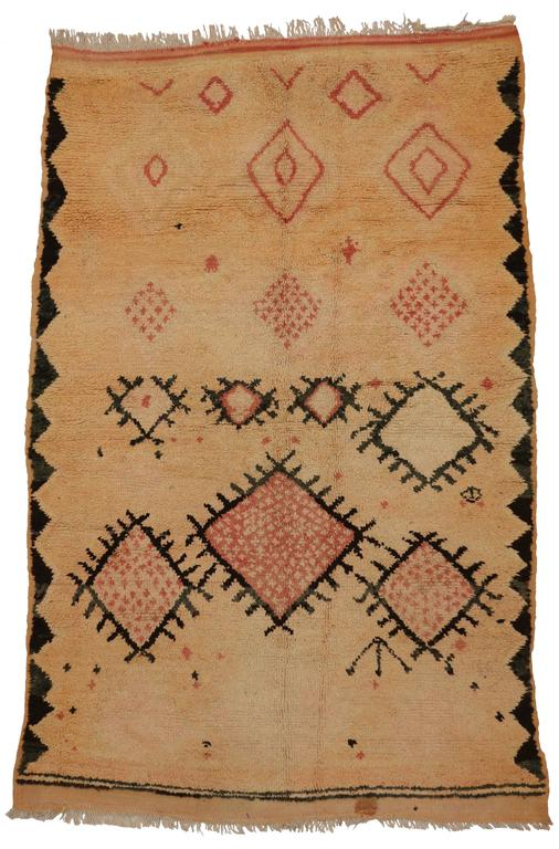Mid-Century Modern Vintage Berber Moroccan Rug with Tribal Design 5