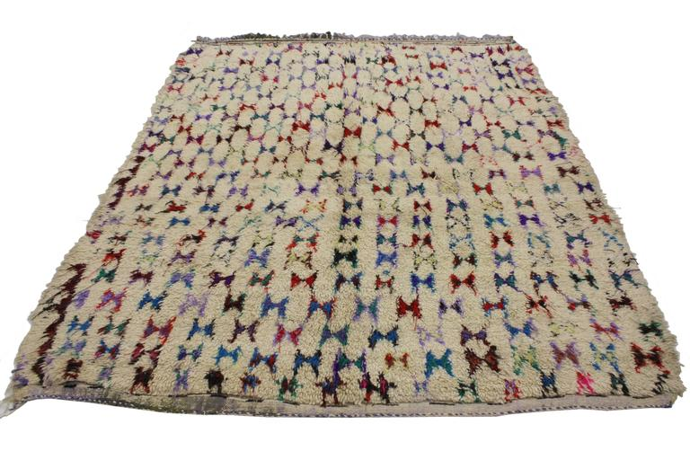 Vintage Berber Moroccan Rug with Abstract Tribal Design 3