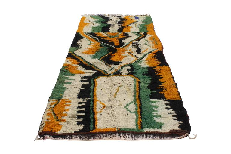 Tribal Vintage Berber Moroccan Rug with Contemporary Abstract Design For Sale
