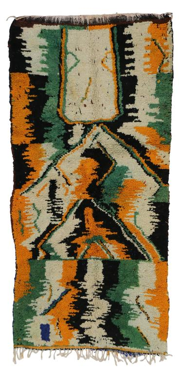 20th Century Vintage Berber Moroccan Rug with Contemporary Abstract Design For Sale