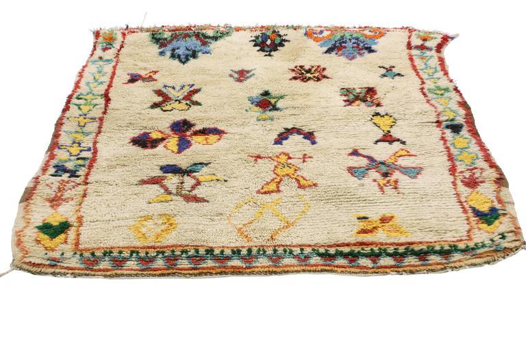 Vintage Berber Moroccan Rug with Modern Tribal Design 3