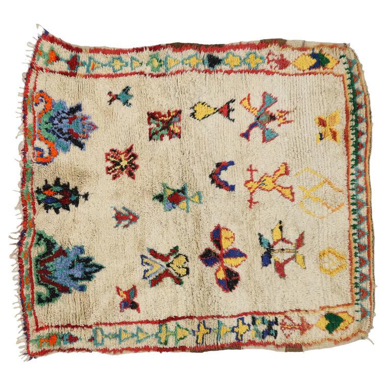Vintage Berber Moroccan Rug with Modern Tribal Design 5