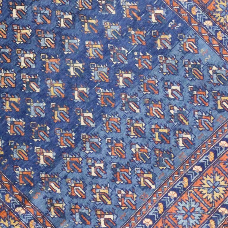 Armenian Antique Rugs: Antique Yerevan Rug With Modern Tribal Style, Antique