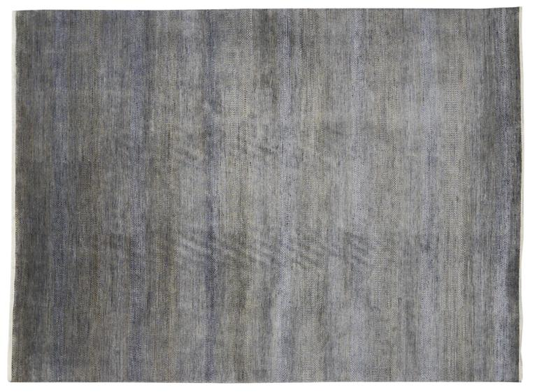 Wool New Contemporary Transitional Gray Area Rug with Modern International Style For Sale
