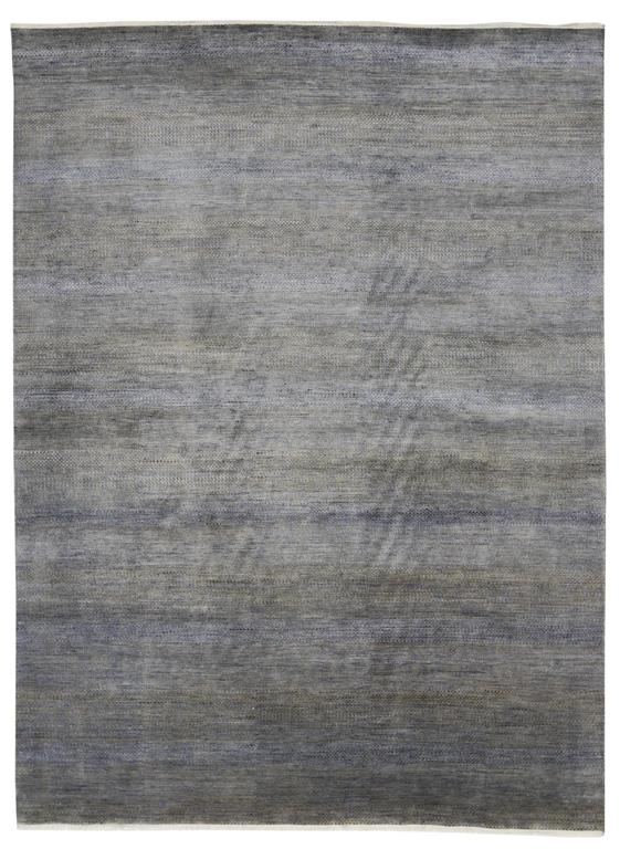 New Contemporary Transitional Gray Area Rug with Modern International Style For Sale 1