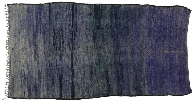 Hand-Knotted Vintage Berber Purple Moroccan Rug Inspired by Mark Rothko Chapel For Sale