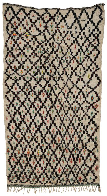 20th Century Vintage Berber Moroccan Rug with Modern Tribal Style, Azilal Rug For Sale