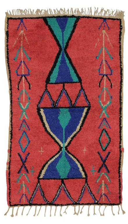 20th Century Vintage Berber Moroccan Rug with Modern Tribal Design For Sale