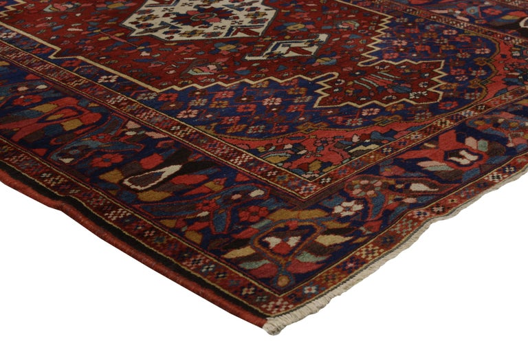Featuring Highly Desirable Colors And A Traditional Modern Style This Antique Bakhtiari Persian Rug Embos