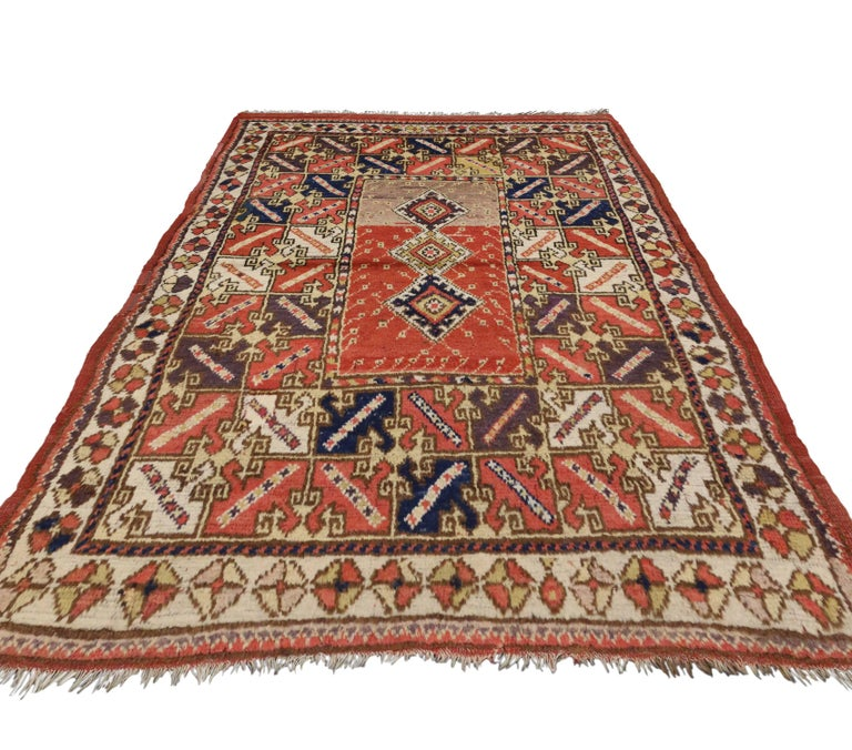 Foyer Rugs Sale : Antique turkish accent rug with modern tribal style
