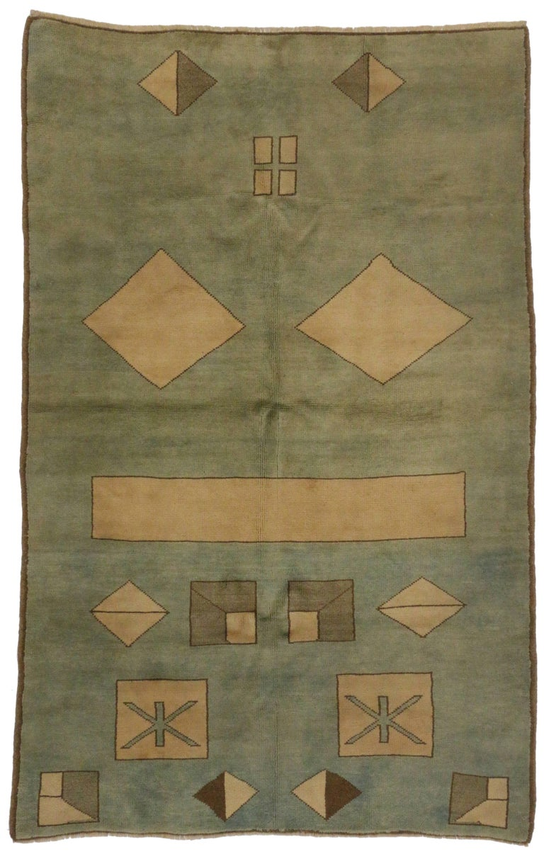 Antique turkish rug with modern art deco style at 1stdibs for Modern art deco style