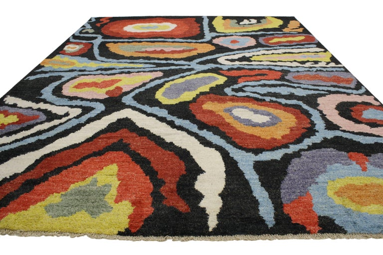 Modern Moroccan Style Rug With Contemporary Abstract