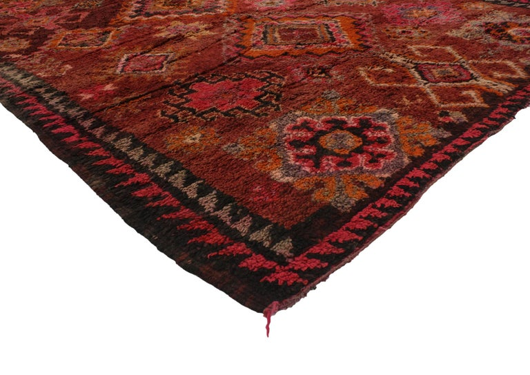 Vintage Berber Moroccan Rug With Modern Tribal Design For