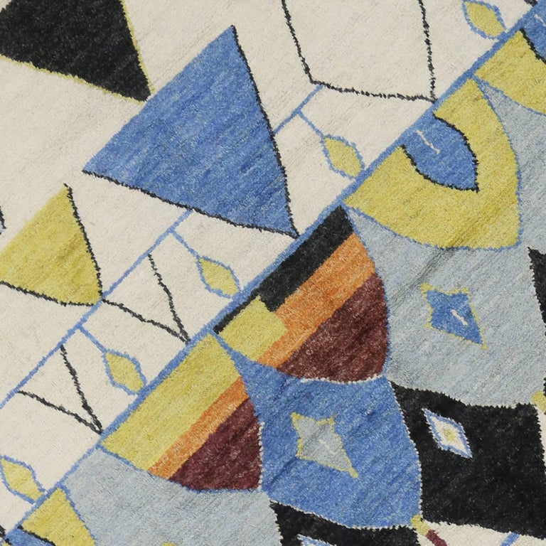 Contemporary Moroccan Style Rug With Modern Geometric