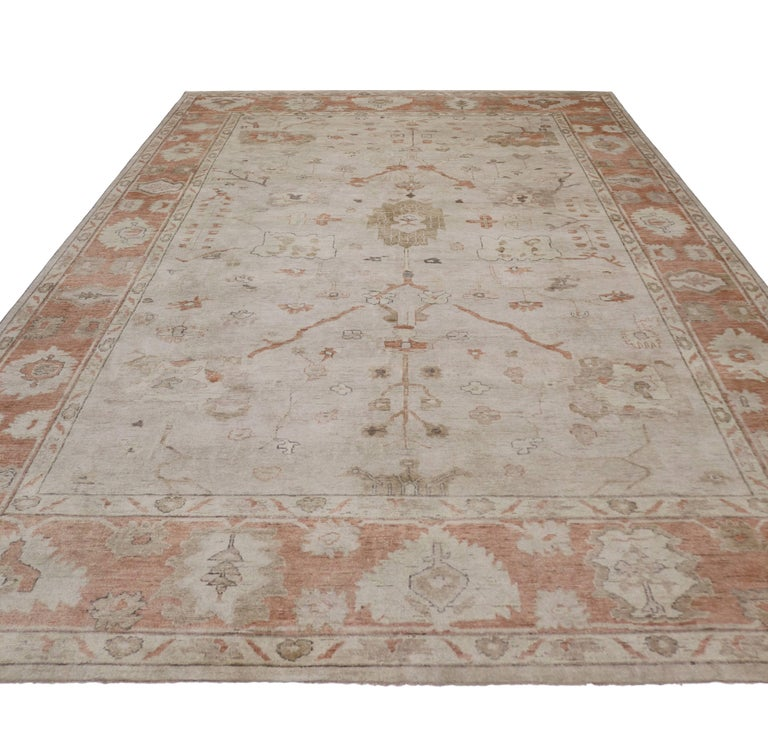 Modern Oushak Rug: Modern Oushak Rug With Transitional Style For Sale At 1stdibs