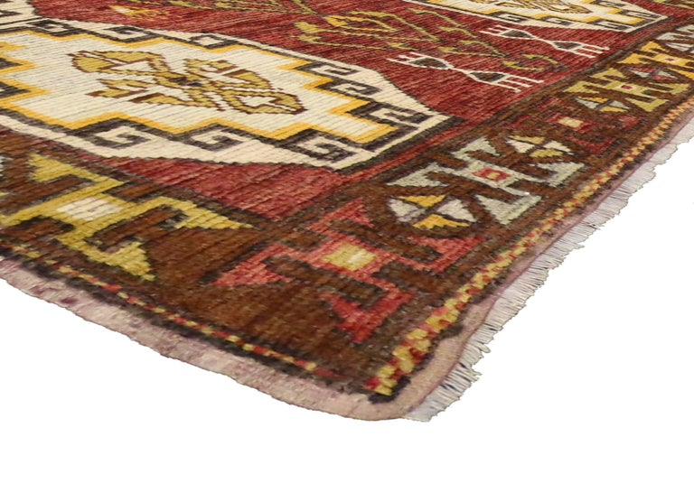 Vintage Turkish Oushak Runner with Modern Tribal Style, Gallery Rug 2