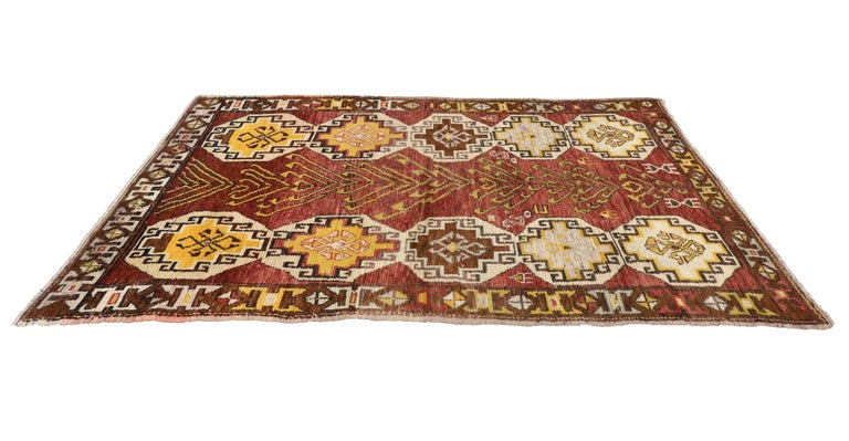 Vintage Turkish Oushak Runner with Modern Tribal Style, Gallery Rug 6