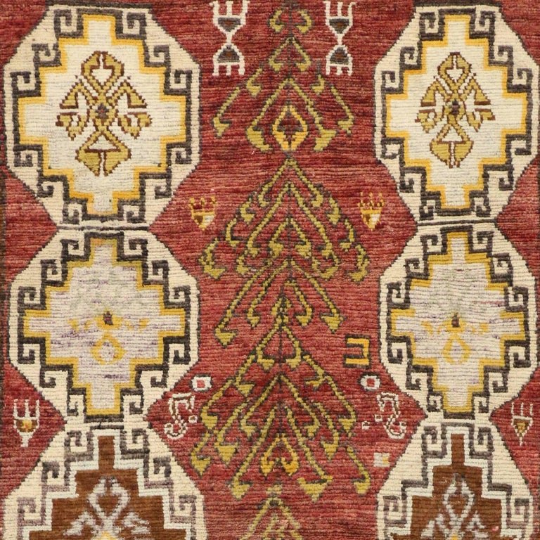 Vintage Turkish Oushak Runner with Modern Tribal Style, Gallery Rug 7