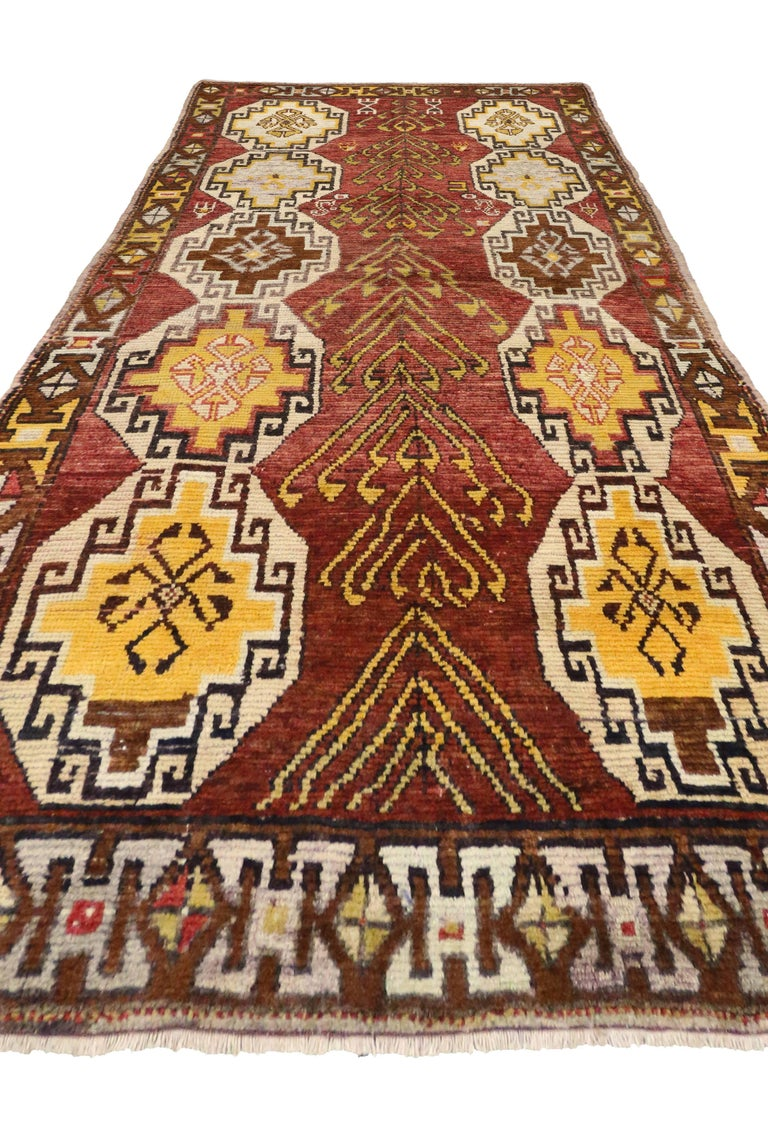 Vintage Turkish Oushak Runner with Modern Tribal Style, Gallery Rug 3