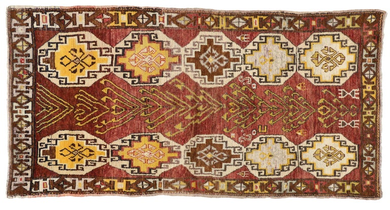 Vintage Turkish Oushak Runner with Modern Tribal Style, Gallery Rug 9