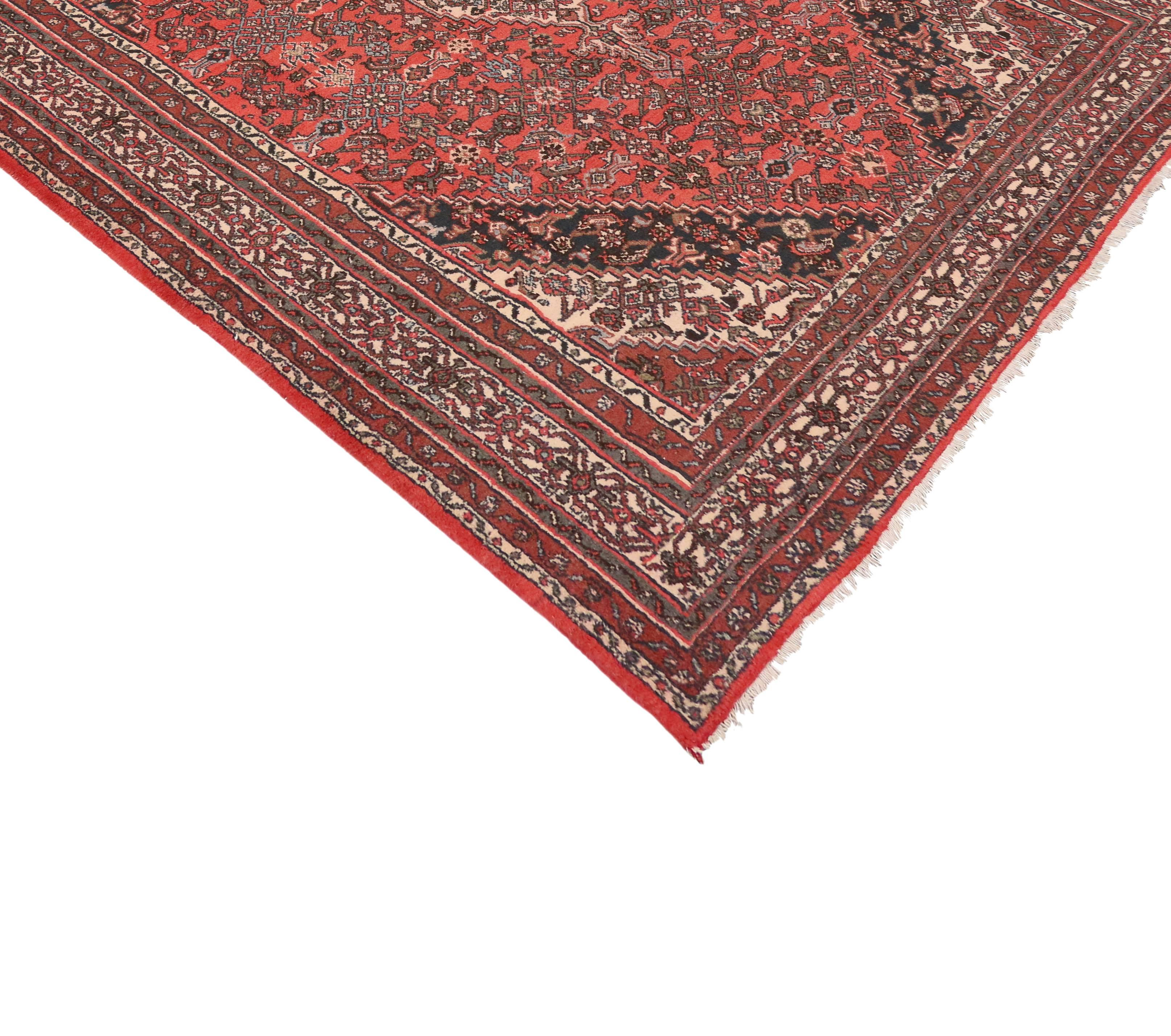 Providing An Element Of Comfort, Artistic Statement And Functional  Versatility, This Vintage Hamadan Persian
