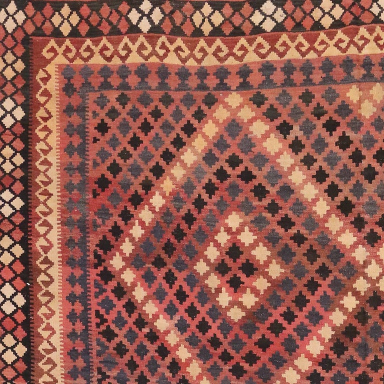 20th Century Vintage Afghan Kilim Rug with Modern Tribal Style For Sale