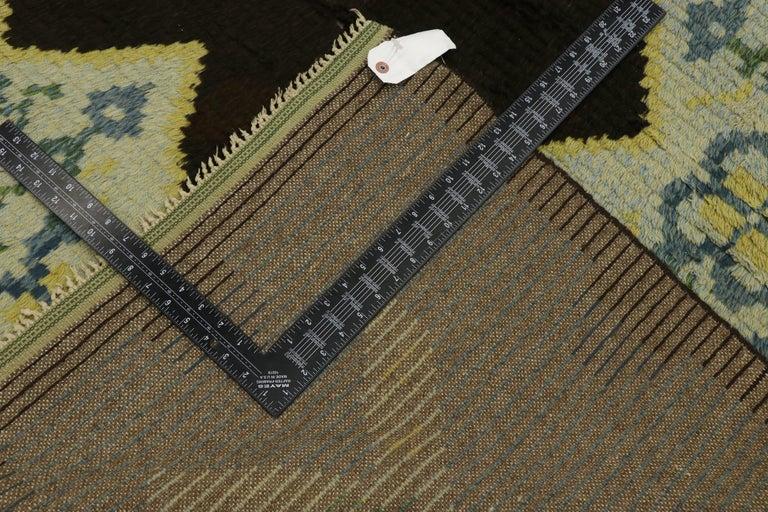 Wool Vintage Swedish Rya Shag Rug with Scandinavian Modern Style and Danish Design For Sale