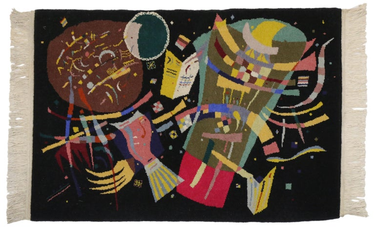 Chinese Contemporary Abstract Tapestry Inspired by Wassily Kandinsky's
