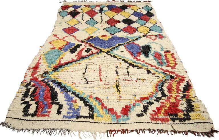 Vintage Moroccan Azilal Rug Tribal Style Berber Moroccan