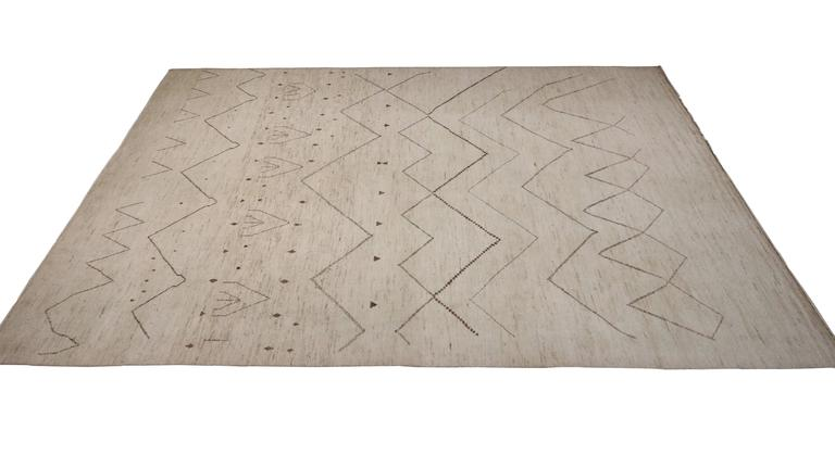 Contemporary Moroccan Style Oversize Rug With Tribal Design At 1stdibs