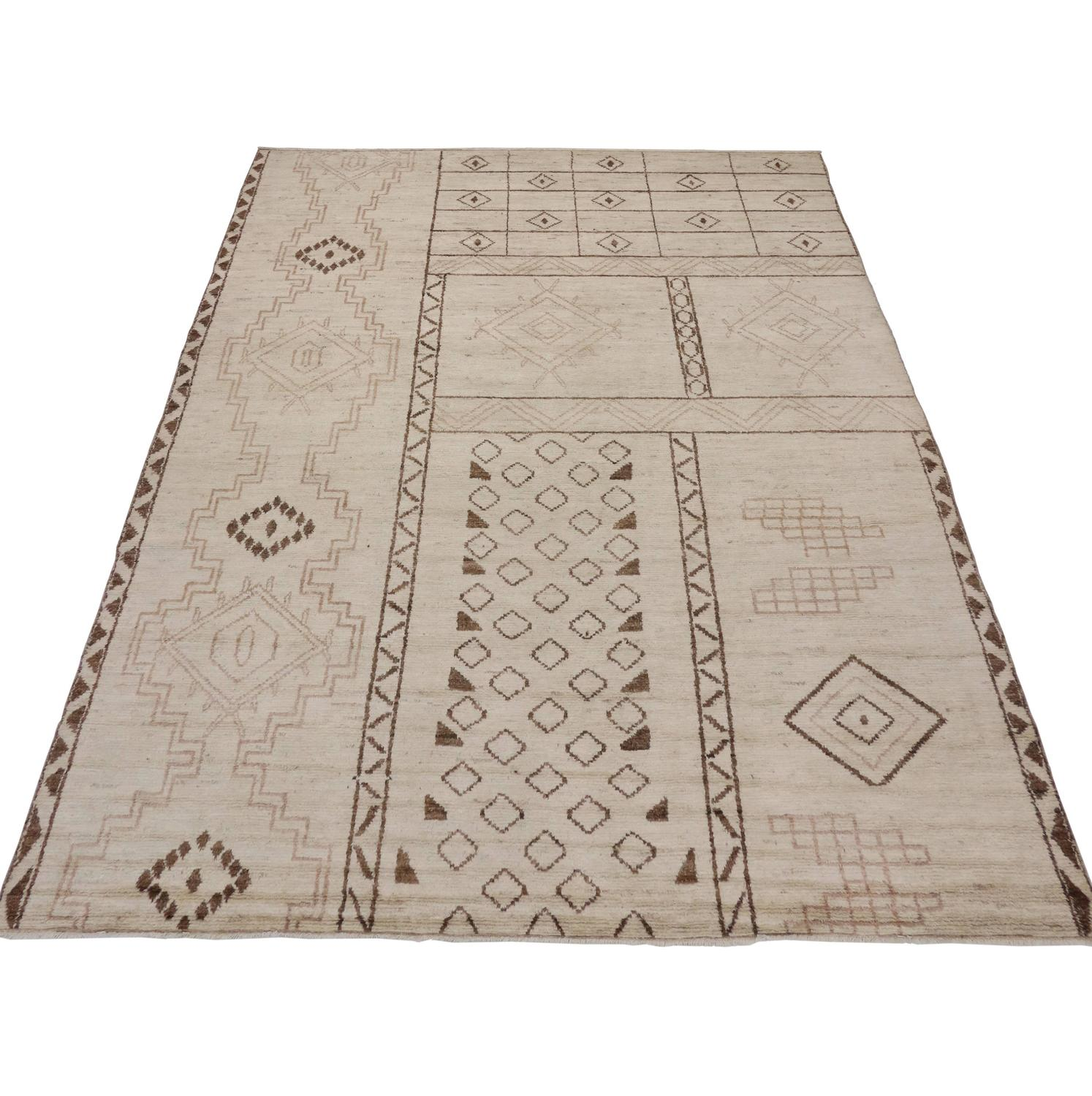 Contemporary Moroccan Area Rug with Tribal Design For Sale at 1stdibs