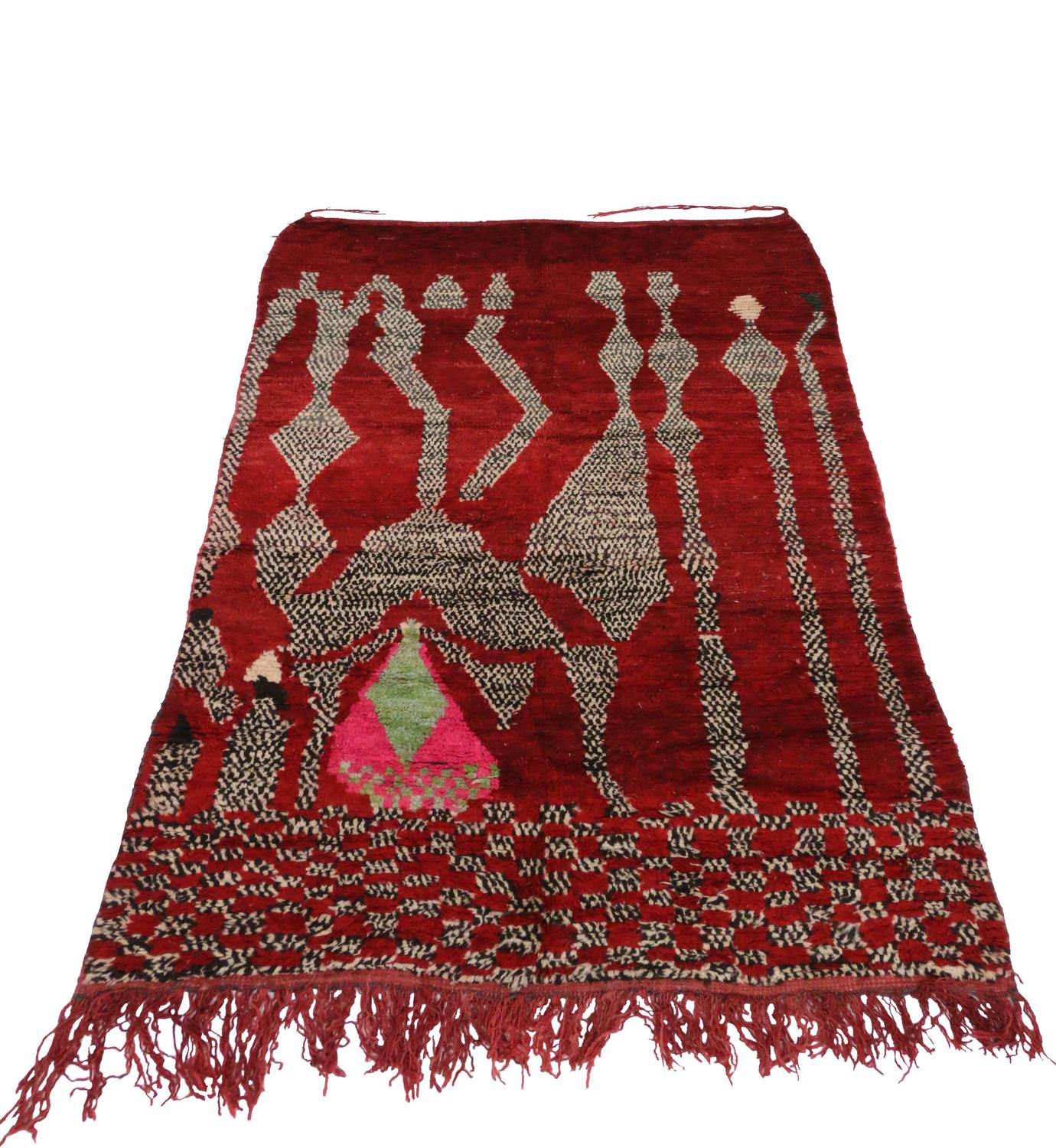 Vintage Berber Moroccan Rug With Abstract Design At 1stdibs