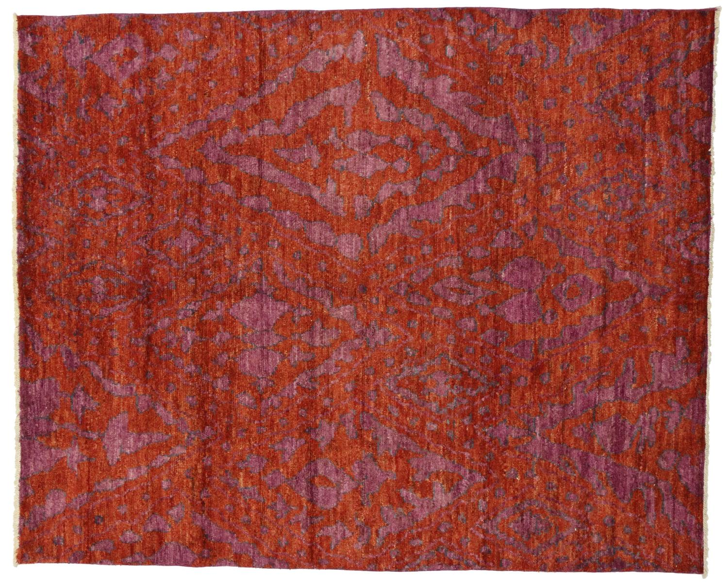 Contemporary Moroccan Style Area Rug with Abstract Design For Sale at ...