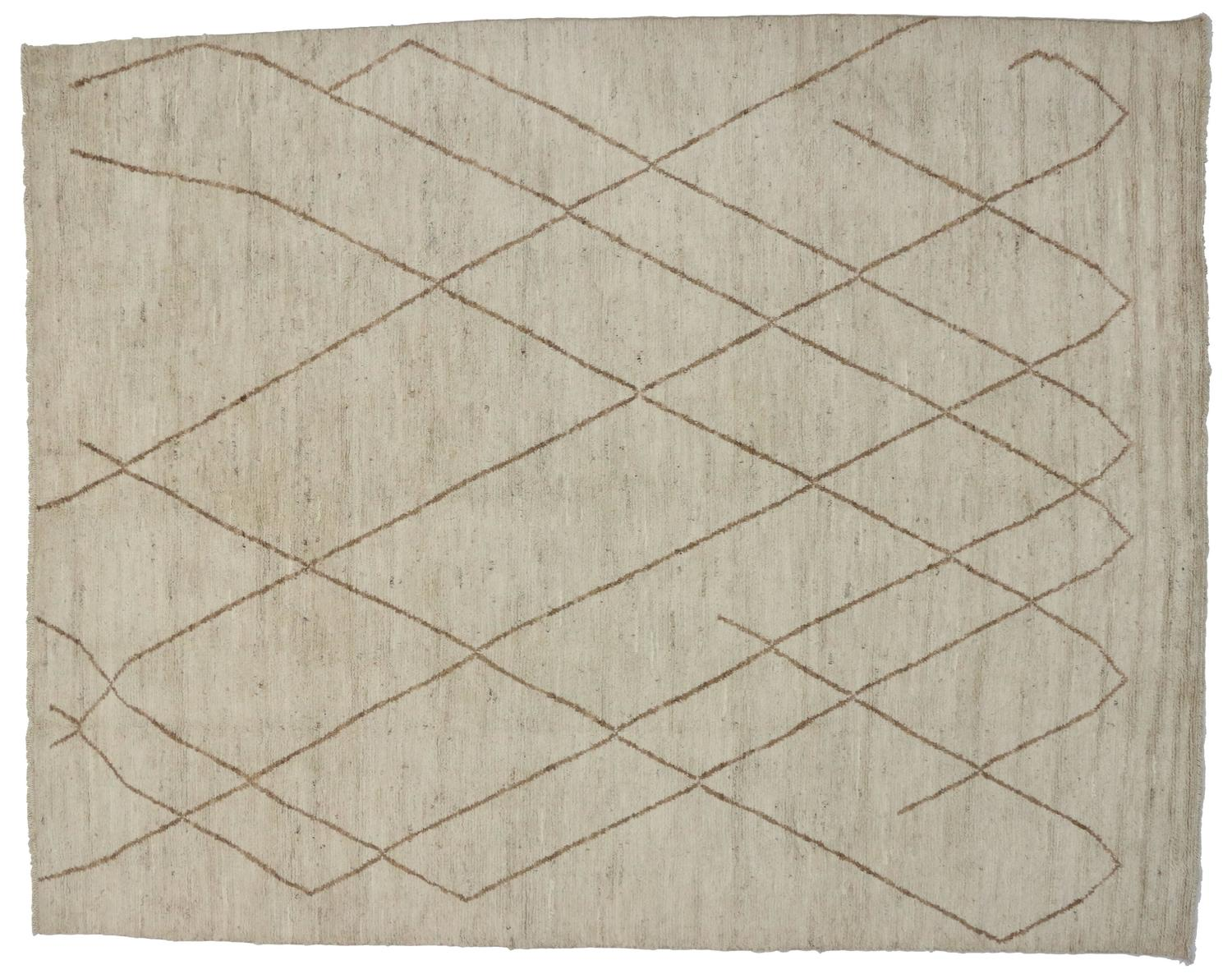 Contemporary Moroccan Area Rug with Modern Design For Sale at 1stdibs