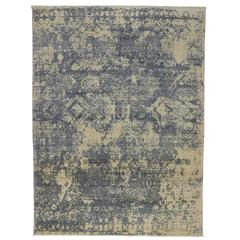 Contemporary Abstract Rug with Erased Design