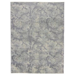 Contemporary Area Rug with Coastal Postmodern Memphis Style