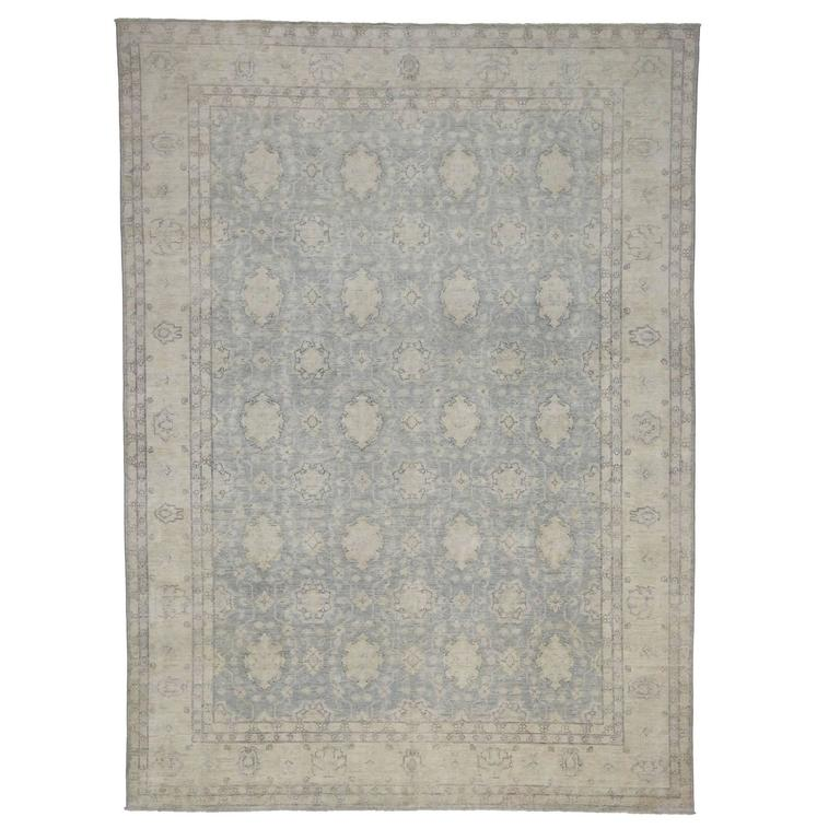 Transitional Rug with Khotan Design in Light Colors