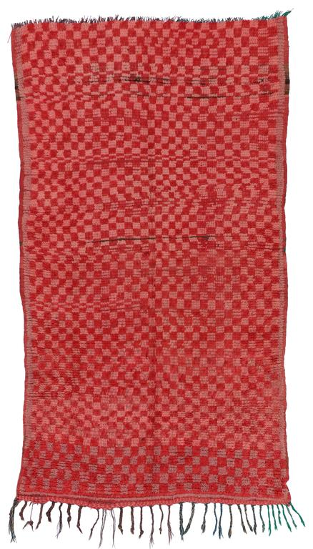 Vintage Berber Moroccan Boujad Rug with Checkerboard Post-Modern Style For Sale 6