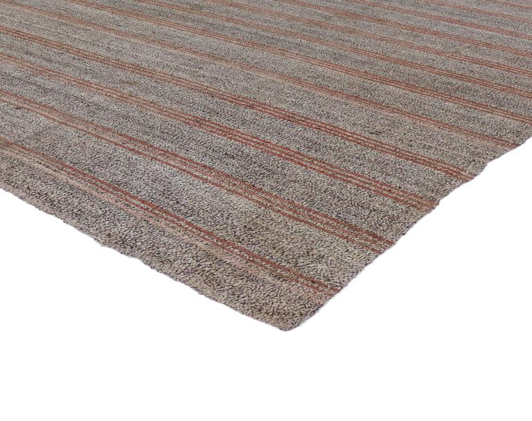 Vintage Turkish Kilim With Minimalist Aesthetic And Modern