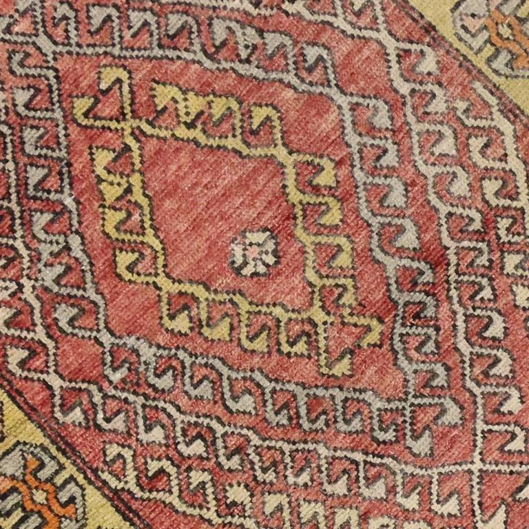 Vintage Turkish Oushak Runner with Modern Tribal Style For Sale 1