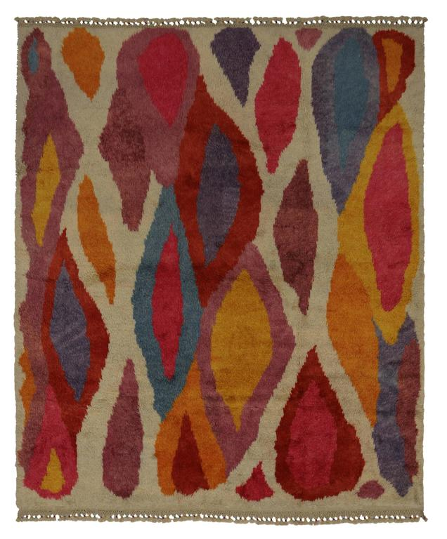 Modern Turkish Tulu Shag Rug with Contemporary Abstract Style 6