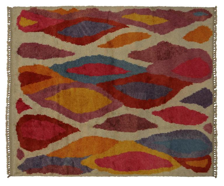 Modern Turkish Tulu Shag Rug with Contemporary Abstract Style 5