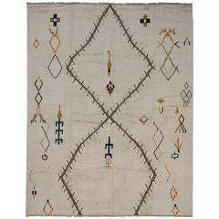Contemporary Moroccan Style Rug with Tribal Design