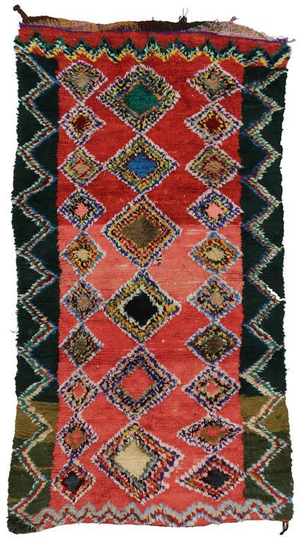 Boho Chic Vintage Berber Moroccan Rug with Modern Tribal Design 6