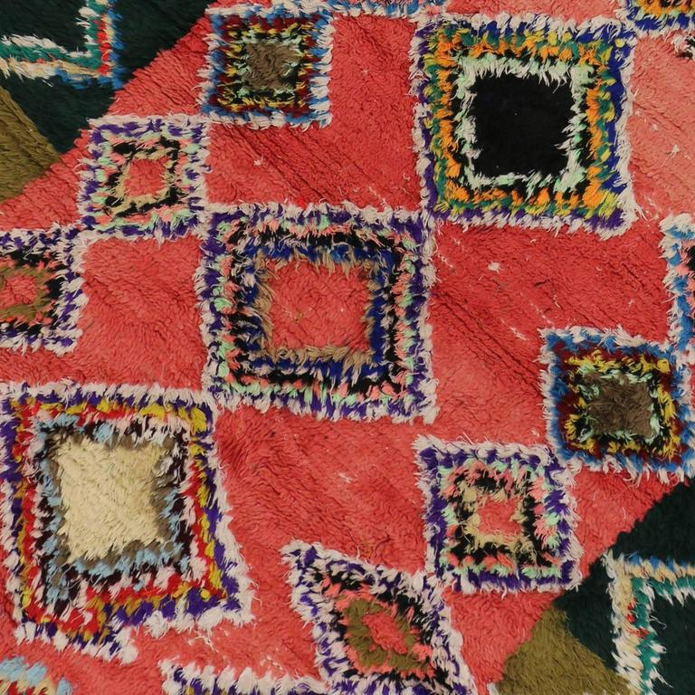 Boho Chic Vintage Berber Moroccan Rug with Modern Tribal Design 5
