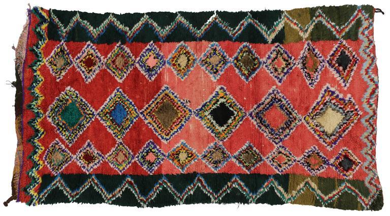 Boho Chic Vintage Berber Moroccan Rug with Modern Tribal Design 7