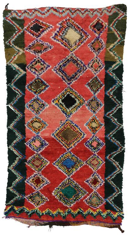 Boho Chic Vintage Berber Moroccan Rug with Modern Tribal Design 8