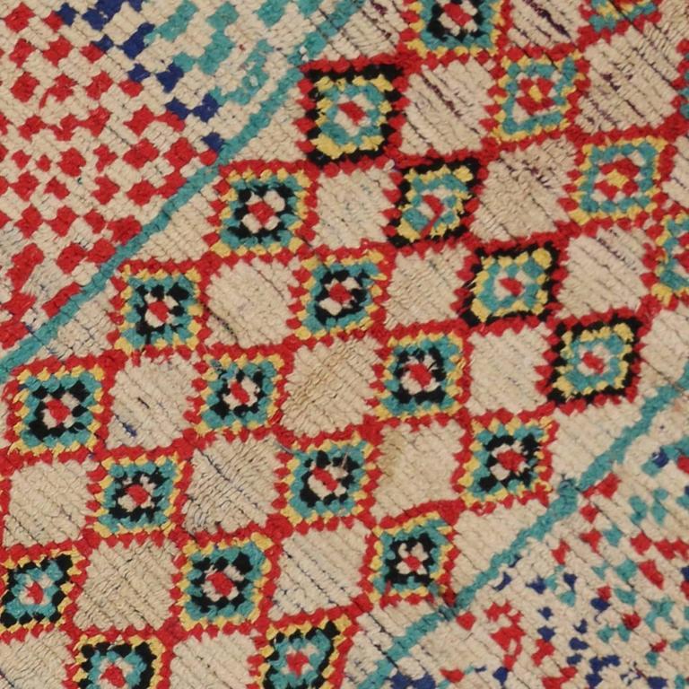 Mid-Century Modern Vintage Berber Moroccan Rug with Tribal Design 3