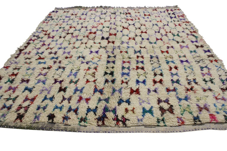 Vintage Berber Moroccan Azilal Rug with Abstract Tribal Design 3