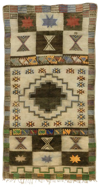 Vintage Berber Moroccan Rug with Modern Tribal Style For Sale 2